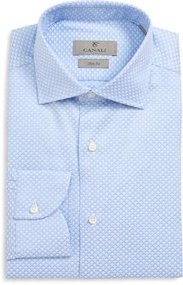 Canali Slim Fit Geometric Dress Shirt