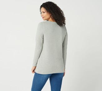 Factory Quacker French Terry Tunic with Contrast Zipper Detail