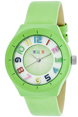 Crayo Unisex Green Strap Watch-Cracr3504