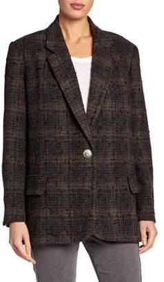 Etoile Isabel Marant Korix Single-Breasted Check Jacket