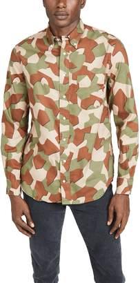 Gitman Brothers Peruvian Geometric Camo Oxford Button Down Shirt