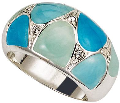 Avon Enamel Elegance Ring in Turquoise-Color