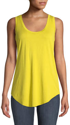 Three Dots Long Scoop-Neck Tank