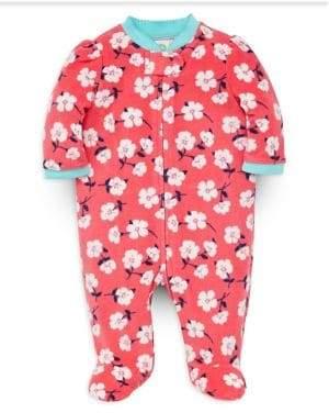 Little Me Baby Girl's Floral-Print Fleece Footie