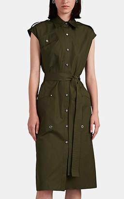 Derek Lam Women's Cotton Poplin Utility Shirtdress - Green