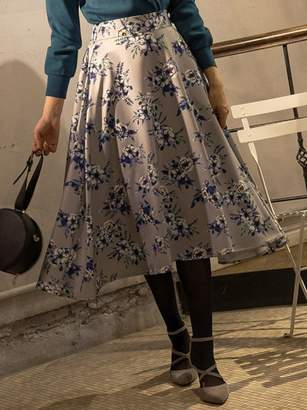 Andemiu (アンデミュウ) - アンデミュウ [WEB限定]デジタルフラワースカート