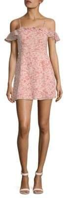 For Love & Lemons Aurora Ruffle Mini Dress