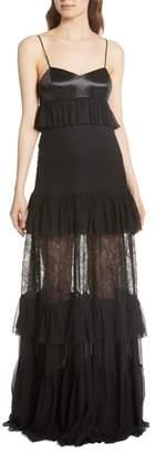 Caroline Constas Maris Lace Panel Gown