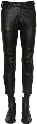 Ann Demeulemeester LEATHER BIKER PANTS