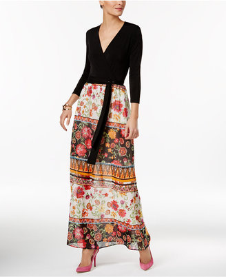 ECI Faux-Wrap Illusion Maxi Dress $70 thestylecure.com