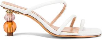 Jacquemus Noli Sandals in White | FWRD