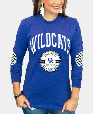 Couture Gameday Women Kentucky Wildcats Elbow Patch Long Sleeve T-Shirt