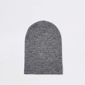 River Island Light grey twist slouch beanie hat