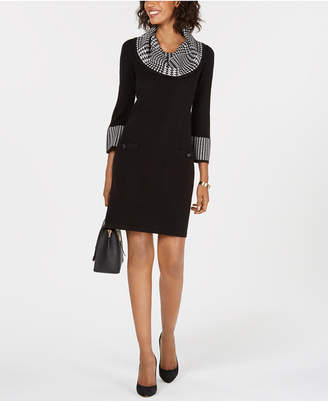 Jessica Howard Petite Cowl-Neck Sweater Dress