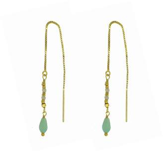 Yvonne Henderson Jewellery - Amazonite Pull Through Feature Drop Earrings