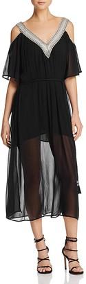 Love Sam Cold Shoulder Dress $285 thestylecure.com