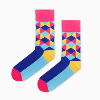 Look Mate London Geometric Socks Inspired By David Hockney