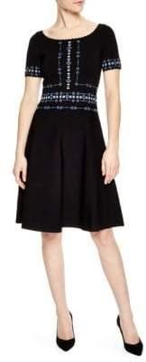 Sandro Safe Embroidered Dress