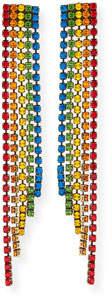 Auden Rainbow Crystal Fringe Earrings