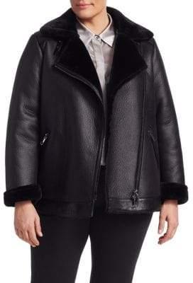 Marina Rinaldi Marina Rinaldi, Plus Size Marina Sport Faux Shearling Biker Jacket