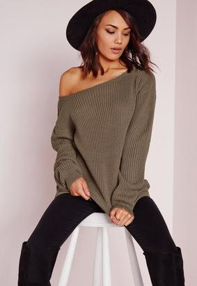 Off Shoulder Sweater Taupe $29 thestylecure.com