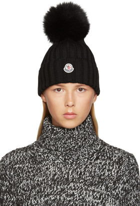 Moncler Black Wool Beanie $335 thestylecure.com