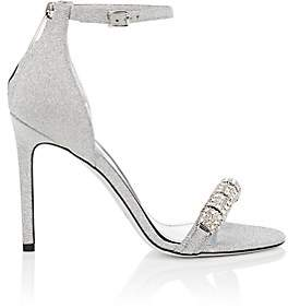 Calvin Klein Women's Camelle Glitter Sandals-Silver