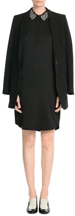 DKNYDKNY Silk Shirt Dress with Embellished Collar