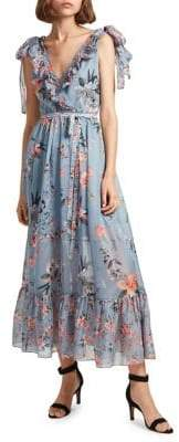French Connection Sheer A-Line Maxi Dress