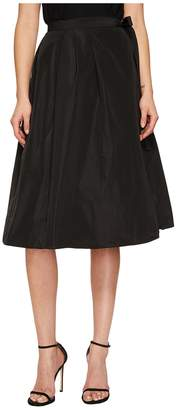 Jil Sander Navy Pleated Wrap Skirt Women's Skirt