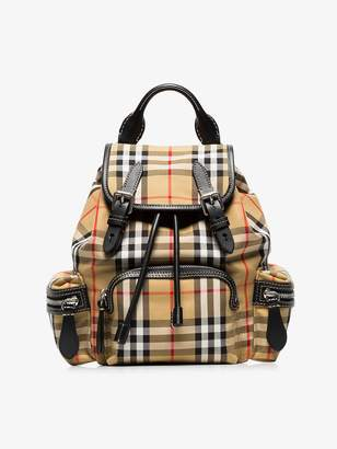 Burberry The Small Rucksack in Vintage Check and Leather