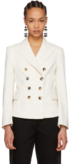 Ecru Jerena Sporty Stretch Blazer