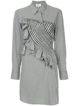 3.1 Phillip Lim asymmetrical gingham shirt dress