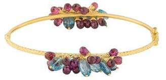 Farah Tanya 14K Topaz & Tourmaline Bangle