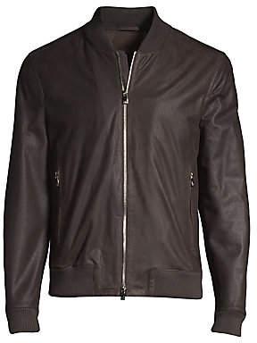 Corneliani Men's Leather Bomber Jacket