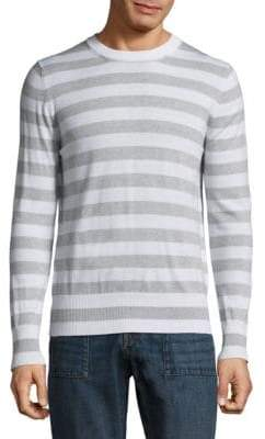 Eleventy Wide Stripe Crewneck Sweater