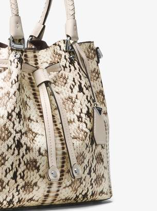 MICHAEL Michael Kors Blakely Snake-Embossed Leather Bucket Bag