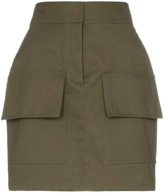 Michael Lo Sordo high waist utilitarian cotton mini skirt
