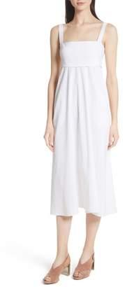 Theory Empire Waist Midi Dress