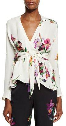 Etro Floral Tie-Front Blouse, Ivory $955 thestylecure.com