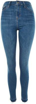 Topshop Moto authentic blue let hem jamie jeans