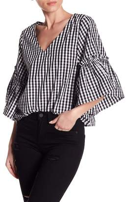 Abound Gingham Bell Sleeve Top