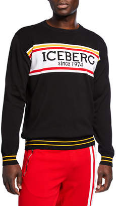 Iceberg Men's Cotton Logo Sweater