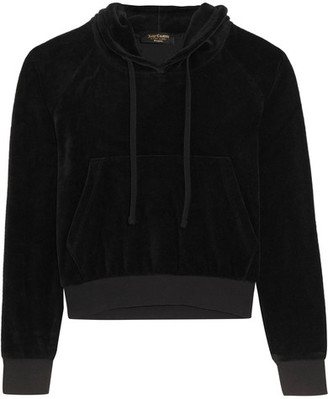 Vetements - + Juicy Couture Embellished Cotton-blend Velour Hooded Top - Black $810 thestylecure.com