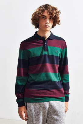 Fred Perry Large Stripe Pique Long Sleeve Polo Shirt