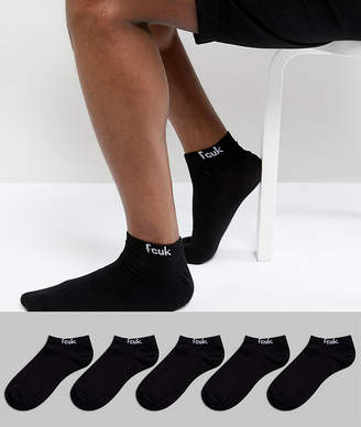 French Connection 5 Pack Sneaker Socks