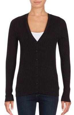 Lord & Taylor Ribbed-Knit Cardigan $80 thestylecure.com
