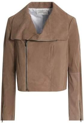 Halston Suede Biker Jacket