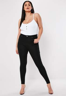 Missguided Plus Size Black Jeggings