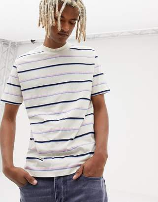 Asos DESIGN relaxed t-shirt with retro pastel stripe